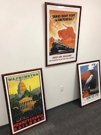 Three Vintage Railroad Posters Washington, 20005