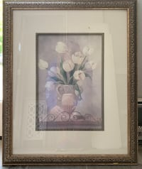 Framed floral picture antique gold frame 18x22 Grosse Ile, 48138