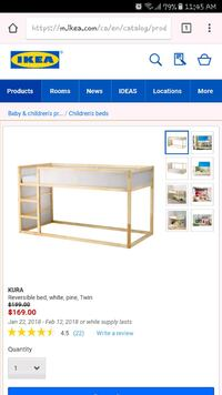 Ikea loft bed for kids Winnipeg, R2W 2J7
