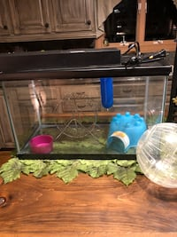 Aquarium, spinning wheel, igloo, food bowl, water bottle, and roll around ball. Heat lamp is $15.00 extra if you need one.  Mooresville, 28117