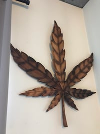 Giant, Handmade Cannabis leaf wall ornament