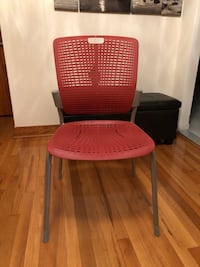 Human scale red chair/ chaise human scale