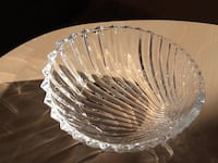 Small shell shaped crystal dish South Kingstown