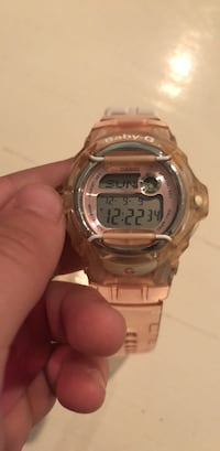 round silver Casio G-Shock digital watch Clayton, 63105