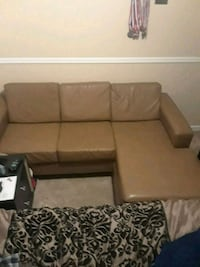 Brown Leather Sofa W/ matching ottoman Summerville, 29485
