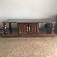 Solid antique wood coffee table