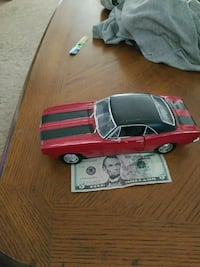 red and black muscle car die-cast