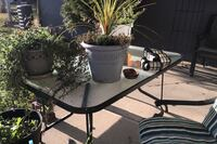 Patio table &4 comfortable chairs, umbrella & ornate umbrella holder Edmonton, T5R
