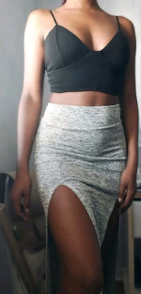 Grey double slit maxi skirt Brampton, L7A 2X7