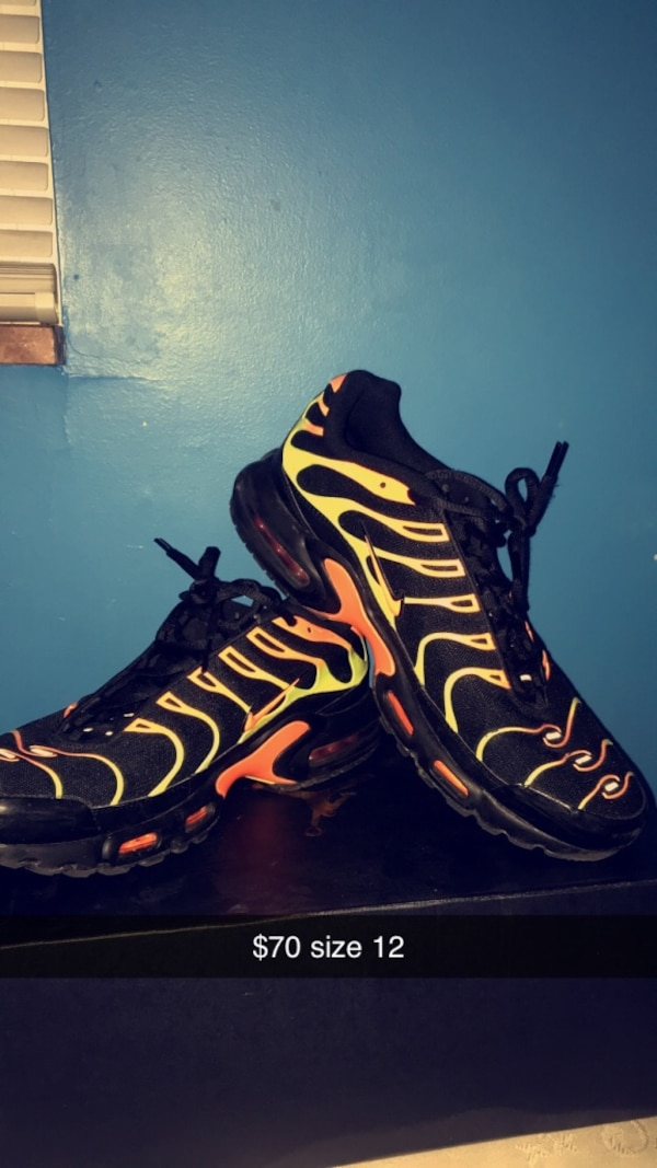 reputable site 5ed6b 1aa48 Air Max Plus 'Black Volt Total Orange