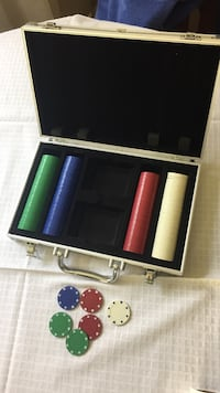 green, blue, red, and white poker chips set Perinton, 14450