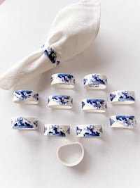 Vintage Delft Blue Napkin Rings Innisfil, L9S 2A2