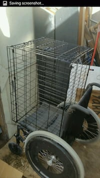 wheel chair $75 cage $40 $100 both