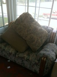 gray and white floral fabric sofa chair Mayfield, 42066