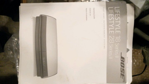 Bose lifestyle system with soundbar and dvd 37792604-d98f-4884-8e3f-caba572ecded
