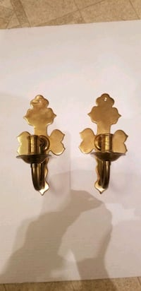 Brass wall hanging candle holding.  Willow Street, 17584