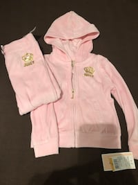 Juicy Couture girls 2-piece Velour Hoodie & Pants Set Reston, 20191