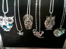 NEW .925 Sterling silver & Abalone & Gems REAL!