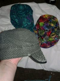 two green and black knit caps Tulsa, 74136