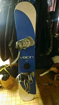 Vision snowboard with bindings