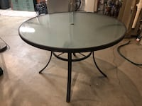 "40"" round glass table KCMO"