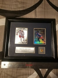 Gretzky Framed Cards and Pin  Georgina, L4P