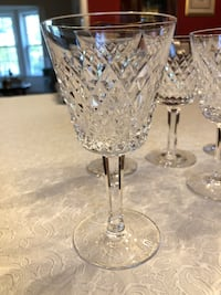 Waterford Crystal Claret Wine Glasses - Alana Pattern. Silver Spring, 20906