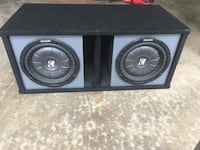 "2 10"" Kicker CVT Subwoofers. 800 wats rms. Enclosure included Woodbine, 21797"