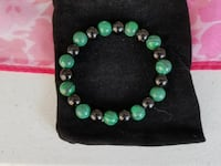 Handmade Malachite and Onyx bracelet New Market, 21774