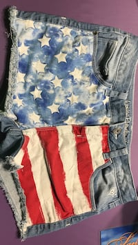 Justice premium jeans / Fourth of July size 18R