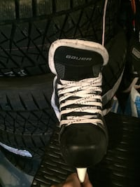 pair of black-and-white Adidas sneakers Calgary, T2V 2V8