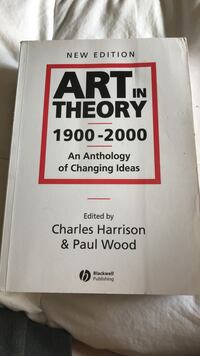 1900-2000 New Edition Art in Theory by Charles Harrison & Paul Wood book Anmore, V3H