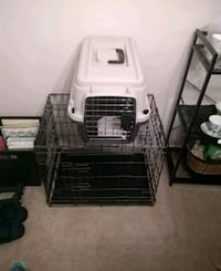 Great bargain.  Got to move! Crate and puppy carrier (Both for 10.00) Glen Burnie, 21061