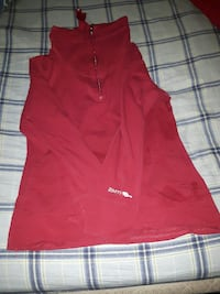 red zipped jacket