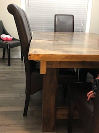 Brown solid wood table Port Coquitlam, V3C 6B2