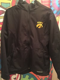 Black iowa zip-up jacket