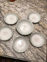 White ceramic plates and bowls