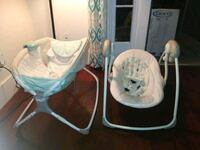 baby's white and blue portable swing San Jose, 95126