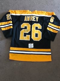Don Awrey Signed Boston Bruins Jersey  Châteauguay, J6K