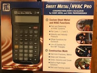 Sheet Metal/HVAC Pro Calculator New Westminster, V3M 5W9