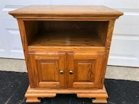 """Solid wood cabinet 26 1/4"""" w x 17"""" d x 29 3/4"""" h.  Crystal Lake, 60014"""