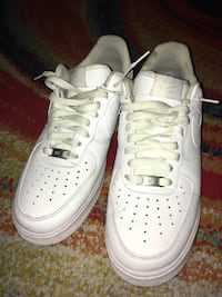 pair of white Nike Air Force 1 low shoes Middle Island, 11953