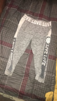 gray and white Love Love pants Patchogue, 11772