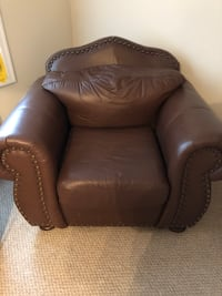 brown leather tufted sofa chair Woodbridge, 22192
