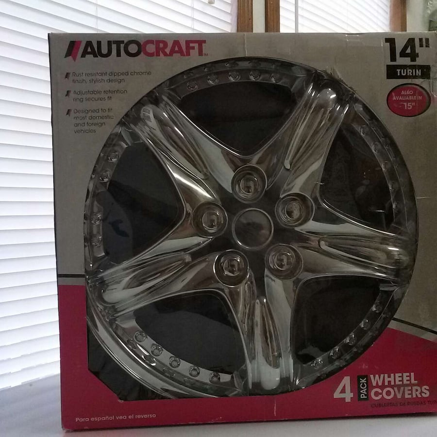 """Autocraft 14"""" Turin wheel covers 4 pack"""