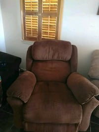 brown fabric sofa chair with ottoman El Paso, 79934
