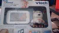 white Vtech safe and sound baby monitor box