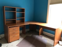 Scan solid wood study desk fairly in good condition  Potomac