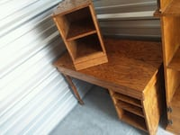 Pine desk with side cabinet  Wyoming, 49509