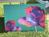 Large flower canvas picture. Wake Forest, 27587